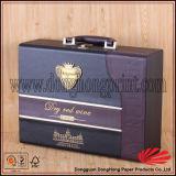 Супер коробка красного вина кожи Faux качества с двойными бутылками