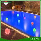 Lanterne solaire gonflable 10LED de PVC de cube avec la lampe solaire de piscine de lumières décoratives solaires de jardin du voyant de signalisation, lumière campante solaire Emergency