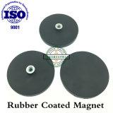 Magnetico rivestito in gomma nera, su misura, in magazzino