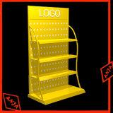 Estante de visualización del departamento del dispositivo del almacén del metal con los ganchos de leva