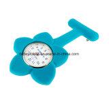 Reloj colgante de la enfermera del bucle del silicón de la jalea para los doctores de las enfermeras