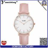 Reloj de Cluse de la manera Yxl-239 para los relojes de cuero europeos del cuarzo del diamante de las mujeres de los hombres de negocios del OEM