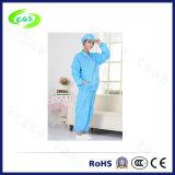Qualität ESD-Arbeits-Kleid mit Schutzkappe (Bein-Öffnungs-Entwurf) (EGS-PP21), antistatischer Kittel (ESD)
