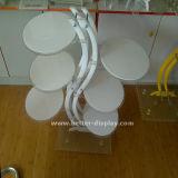 ウエディングケーキ(BTR-K3005)のためのアクリルのプラスチックケーキの皿