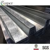 Los materiales de construcción galvanizaron los precios de acero del Decking del metal acanalado