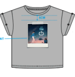 Ringrosso stampato maglietta di modo delle ragazze nuovo
