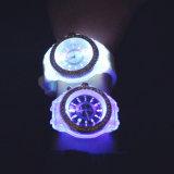 Reloj del diamante de Ginebra del cuarzo de la manera LED (P5902)