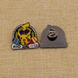 習慣か金属またはボタンまたはPinまたは錫または警察または軍隊または紋章または名前またはバッジの堅いエナメルの折りえりPin