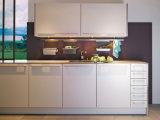 Weißer hoher Glanz-Lack beendete für Küche-Schränke mit Küche-Wanne