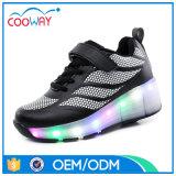 جديدة تصميم أسود [لد] جار بكرة أحذية مع [بو] فرعة حذاء