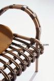[رتّن] خارجيّ أثاث لازم ألومنيوم إطار ثبت [دين تبل] مع أربعة كرسي تثبيت
