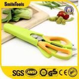 6 in 1 Multifunction Roestvrij staal Kitchen Scissors met Fridge Magnet