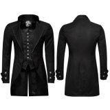 Парчи чернокожих человек типа празднества куртки европейской готской панковской длинние (Y-750)