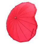 Corazón rojo en forma de paraguas