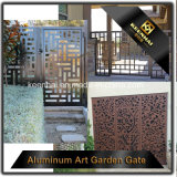 Puerta de aluminio decorativa de la entrada del chalet