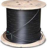 Cable de Fábrica forma plana FTTH LSZH 1core G657A fibra óptica de cable de bajada / interior de la mariposa cable de bajada