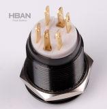 Schwarzer Alluminum 12V LED Drucktastenschalter UL-Ce (19mm)