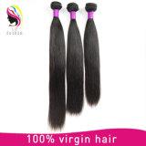 Extensão brasileira do cabelo humano de Remy do Virgin natural não processado com fechamento