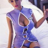 Poupée érotique de jouet de sexe de grands d'âne de sein de sexe de poupée de Brown silicones réels énormes de peau