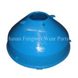 높은 Mn% HP400 콘 쇄석기 맨틀 및 사발 강선