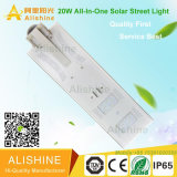 IP67 alta potencia de 20 vatios LED luz de calle solar