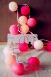 Шнур шарика хлопка СИД Китая высокого качества Multicolor освещает Таиланд для украшения рождества венчания партии