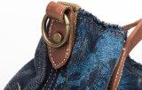 De gewassen Handtas van het Canvas van Jeans, Manier Dame Tote Bags, het Winkelen de Zak van de Schouder