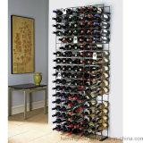 144本のびんの壁の金属の床の記憶の表示ワインの棚付けラック