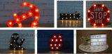 Forma de la batería Operado Daizy 3D LED symble Vintage Marguee Luces