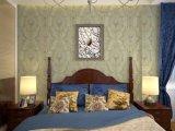 Papel pintado del damasco del fondo del mosaico de la decoración del hogar del dormitorio de GBL