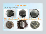 Toupee recto del pelo humano de Remy de la venta de la base fina caliente de la piel
