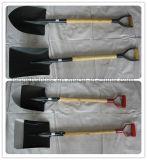 Shovel Garden Tool Rail Pelle en acier avec poignée en bois