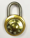 fechamento de combinação da liga de alumínio de 40mm com tampa dourada (1504G)