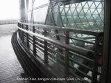 Barandilla al aire libre de interior del acero inoxidable del pasamano de cristal para las escaleras