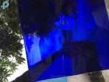 Revestido de vidro decorativo azul, amarelo, vermelho, flutuador de laranja (S-MW)