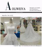 Aoliweiya Raupe/Perle/Rhinestone/Kristallhochzeits-Kleider mit 3/4 Hülsen