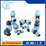 Te de la hembra de la compresión de la instalación de tuberías de agua de los PP