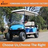 6人の乗客電気ハンチングゴルフカート、青いカラーカートのゴルフ車