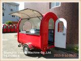 Coche móvil del alimento del carro rojo del alimento Ys-Fv300-6 para la venta