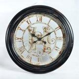 Viejo estilo vendedor caliente de metal redondo reloj de pared la decoración del hogar