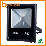 Fábrica RGB 50W 5000lm IP67 Slim Outdoor LED Flood Light