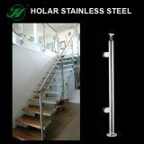 Escaleras barandilla y barandilla del acero inoxidable SS304 316