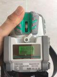 Линии инструмента 5 уровня лазера зеленеют уровень лазера луча с креном и приемником силы