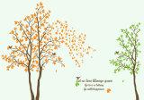 Le vert laisse la peinture noire de papier peint d'image de vecteur d'arbre pour la décoration à la maison