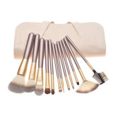 trägt Berufskosmetik 12PCS/Set hölzerner Griff-synthetisches Haar-Verfassungs-Pinsel-Set auf
