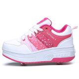 حارّ خداع نمو [لد] [رولّر سكت] أحذية إستعمال شبكة و [بو] لأنّ جدي رياضة أحذية حذاء رياضة قابل للانكماش بكرة أحذية [هيغقوليتي]