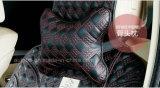 Il nero Reticolo-Dorato del nodo cinese di figura dell'osso del cuscino del collo del poggiacapo dell'automobile