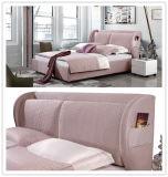 Foshan 중국 가구 공장 2인용 침대는 직물 연약한 침대를 디자인한다