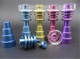 Domeless 티타늄은 유리제 연기가 나는 수관을%s 14/18 mm 남성 또는 여성 합동 티타늄 Gr2 못을 네일링한다