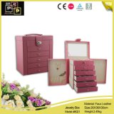 Estilo Retro e Fashional Faux Leather Jewelry Box (3213)